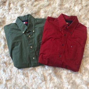 Men's Tommy Hilfiger button-down shirt bundle sz M